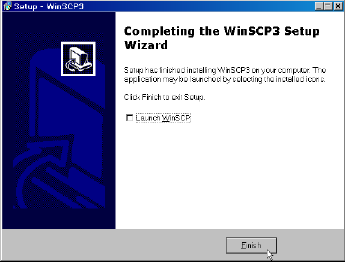 WinSCP Completing the WinSCP3 Setup Wizard