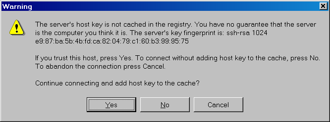 WinSCP Add Server Host Key