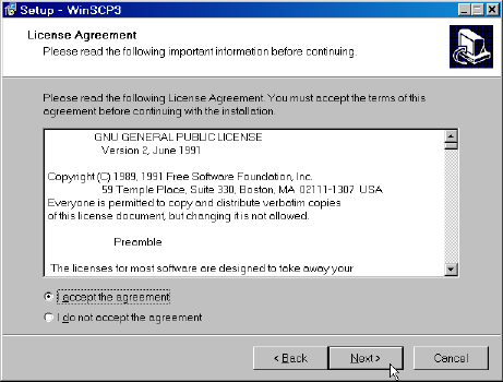 WinSCP License Agreement